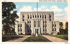 Longview Texas Gregg Court House Street View Vintage Postcard K50111