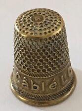 """Messing Fingerhut Thimbles brass """"Cable LOUIS d'OR"""" De A Coudre"""