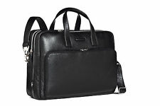 Piquadro Modus Black Large Computer Bag w/ 2 handles, 2 front pocket CA1429MO/N