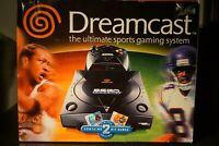 Sega Dreamcast Black Sports Edition Console In Box Lot Games RARE