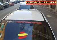 Lateral Vinilo Decal stickers Parabrisas Coche Ford Performance 130x21cm