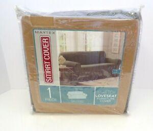 Maytex Smartcover 1-pc Pixel Loveseat Stretch Furniture Slipcover Dark Olive 26B