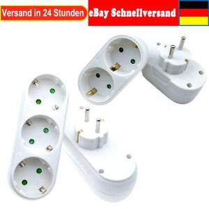 Steckdosenverteiler Mehrfachsteckdose 2 3 Fach Steckdose demelectric adapter EU