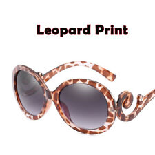 Designer Inspired Oversized Women's Round 80's Fashion Swirl Arm Sunglasses NEW