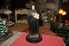Antique Saint Francis Xavier Cabrini Plaster Chalkware Statue-1939-Christianity