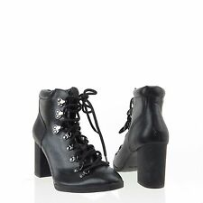 Women's Calvin Klein Evee Shoes Black Lace-up Ankle Booties Size 7.5 M