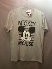 DISNEY Mickey Mouse Herren Kurzarm-Shirt in grau, Größe XL