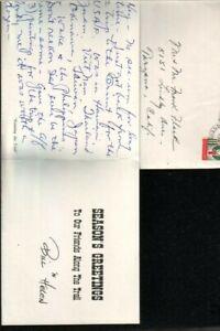 Bill Bender Handwritten Holiday Card Legendary Western Artist