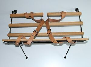 CLASSIC FIAT 500 LUGGAGE RACK FOR BASKET POLISHED CHROME AND WOOD BRAND NEW