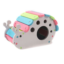 New Hamster Guinea Pig Hideout Snail House Wooden Hut Pet Bedding Cage Chew Toy