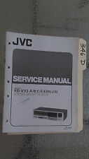 Jvc kd-v33 a b c d e j u service manual original repair book stereo tape deck