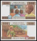 CONGO 500 FRANCS 2002 (Africa Centrale St.) P 106T UNC