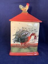 Certified International Le Rooster Large Canister Susan Winget Farm Country
