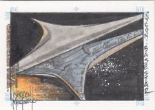 Battlestar Galactica Premiere Warren Martineck / Cylon Base star Sketch Card b