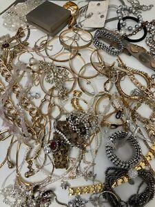 Gold Silver Tone Costume Mixed Jewellery Bundle Craft Resale  1.7Kg B95 J17