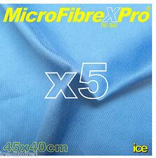5 LARGE 40x45 PROFESSIONAL WINDOW GLASS MICROFIBRE CLEANING POLISH SCRIM CLOTHS