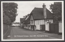Postcard Hemingford Grey nr Huntingdon the Old Timbered Cottages RP by Clements