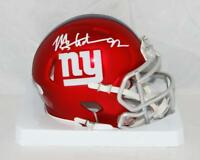 Michael Strahan Autographed New York Giants Blaze Mini Helmet- JSA W Auth *White