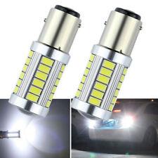 2PCS White BA15D 33SMD LED 1157 Car Tail Brake Stop Tail Light Bulb Globe 12v