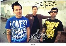 BLINK 182 AUTOGRAPHED SIGNED A4 PP POSTER PHOTO