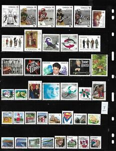 Canada P value all different used stamps off paper full page recent stamps #1