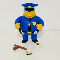 The Simpsons CHIEF WIGGUM Figure Playmates World Of Springfield Loose Complete