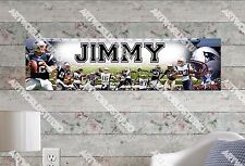 Personalized/Customized New England Patriots Name Poster Wall Decoration Banner
