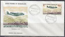 St Pierre & Miquelon Scott C54 FDC - Transail C 160