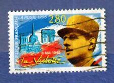 FRANCE 1995 TIMBRE LA VICTOIRE, GÉNÉRAL DE GAULLE oblitéré