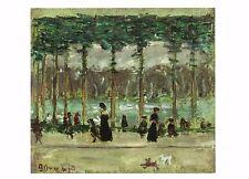 Postcard Pierre Bonnard Walking at Lake, Bois de Boulogne Nat'l Gallery Dc Mint