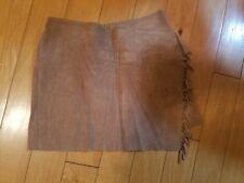 EUC girls IKKS brown leather skirt size 10 years