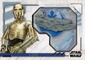 Star Wars Rise of Skywalker 2, C-3PO Vehicle Medallion Card MVM-CF