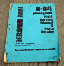 Orig. 1979 Rowe AMI R-84 Phonograph/Jukebox Field Service Manual/Parts Catalog