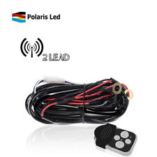 2 Lead Wiring Harness Kit W/Remote Control ON/OFF Switch for Work Lights Offroad