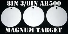 Steel Shooting Targets - 8 In. Round Hangers-AR500-NRA Action Pistol Plates-3pcs