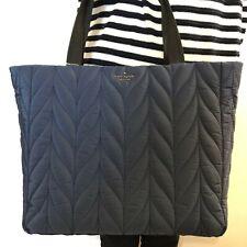 NWT Kate Spade Ellie Large Tote Night Cap Navy Blue Nylon Shoulder Bag WKRU5826