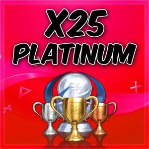 ✅ Playstationx25 Platinum Trophy Service PSN/PS3/PS4/Vita✅