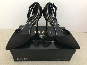 RAVEL Court Shoes Size 7 With Swarovski Crystals