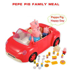 Peppa Pig 4pcs Family Figures & Red Car Pinic Play Set Peppa Pig Child Toys Gift