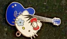 Hard Rock Cafe HELLO KITTY Blue Guitar Pin