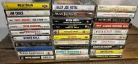 Lot of 30 Country Music Cassette Tapes Brooks & Dunn, Kentucky Headhunters etc..