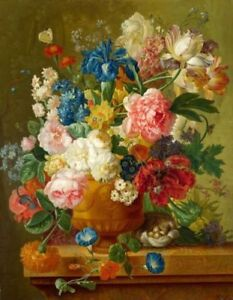 ZWOP457 beautiful 100%  hand painted flowers oil painting decor art on canvas