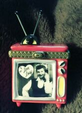 PHB ~ I Love Lucy Television Black White ~ Hinged Trinket Box Figurine