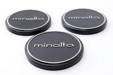 Near Mint Minolta Metal Front Cap Push On 54mm x2 ,57mm Genuine From Japan #1037