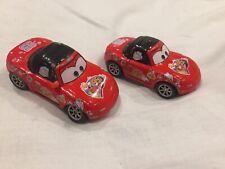 Disney Pixar Cars MCQUEEN TIA & MIA FANS 1:55 MATTEL BUNDLE Diecast TOKYO DRIFT