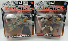 BATTLESTAR GALACTICA : CARDED APOLLO & COLONIAL VIPER SET MADE BY JOYRIDE (H)