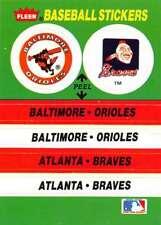 1988 Fleer MLB Baseball Standard Sized Stickers Trading Cards Pick From List