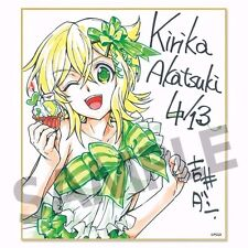 senki zesshou symphogear duplicated autograph board Akatsuki Kirika yoshii dan