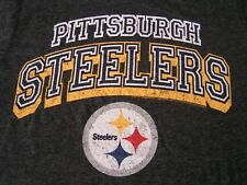 Pittsburgh Steelers T-Shirt S Gray Cotton Blend Short Sleeve Solid NFL  Football 377e00f84