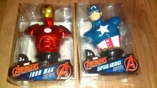 Marvel Avengers Captain America and Ironman Mini Bust Desk Figurines New Sealed